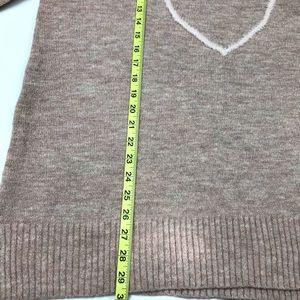 LC Lauren Conrad Sweaters - LC Lauren Conrad Pink Heart Sweater XL